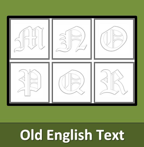 Buchstabenkunst  Buchstabenkarten